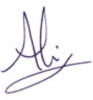 Ali Campbell signature