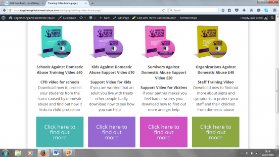 Videos to raise awareness of what abuse is and how to get support
